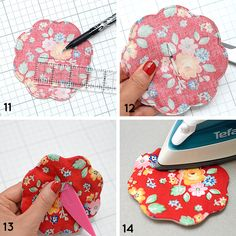 Arbor Blossom Blog Tour - Quilted Petal Coaster Tutorial by Nadra Ridgeway Scrap Fabric Projects, Small Sewing Projects, Sewing Projects For Beginners, Fabric Scraps, Sewing Crafts, Quilted Coasters, Fabric Coasters, Coaster Crafts, Mug Rug Patterns