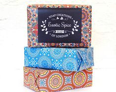 18/12 Handmade Mandala Soap Wrapping Paper & Sticker//Soap Packaging//Custom Stickers//Candle Stickers