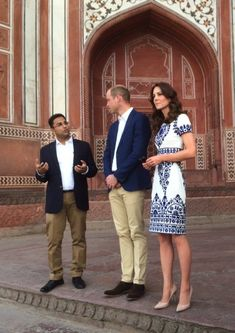 Richard Palmer. Kate and William at the Taj Mahal. Slam dunk in all ways for Kate.