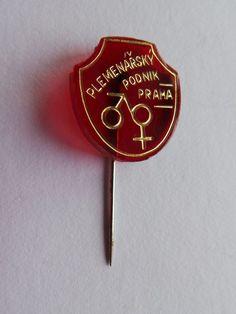 Badge pin pinback Plemenarsky podnik PRAHA Prague Breeding enterprise   Collectibles, Pinbacks, Bobbles, Lunchboxes, Pinbacks   eBay! Pin Badges, Prague, Ebay
