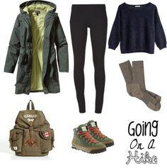 Angora sweater / Patagonia parka coat / The Row skinny pants, $430 / Patagonia merino socks / Roots backpack bag / The North Face Back To Berkeley Hiking Boots