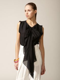 Robert Rodriguez dotted bow blouse