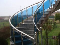 Project realized from our distributor in Lezhe Glass Balustrade, Projects, Log Projects, Glass Handrail