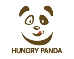 Hungry Panda Logo design - Creative design logo of panda face and the licking tongue in a very attractive style, simple and creative design in brown and red colors only. This design can be useful for hotel, restaurant, eatery, food, blogs, children and more. Price $297.00