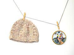 cappello beige uncinetto da donna berretto di Il mondo di Tabitha su DaWanda.com