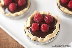 Mason Jar Chocolate Raspberry Tarts