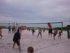 Competition gets fierce on our beach volley ball courts!