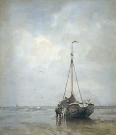 Fishing Boat on the Beach of Scheveningen - Jacob Maris  ~1899
