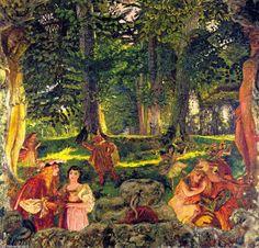 Comedy - Edouard Vuillard - The Athenaeum Maurice Denis, Edouard Vuillard, Pierre Bonnard, Impressionist Paintings, Landscape Paintings, Landscapes, Abstract Landscape, Dramas, Post Impressionism