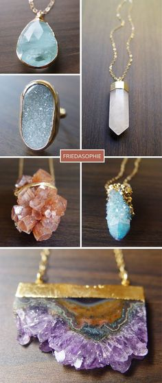 Beautiful gold and crystal jewelry