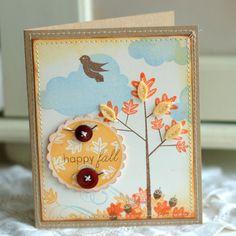 Happy Fall Handmade Card, Thanksgiving Cards