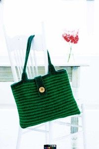 """TLC Home """"Free Simple Stripes Felted Bag Knitting Pattern"""""""