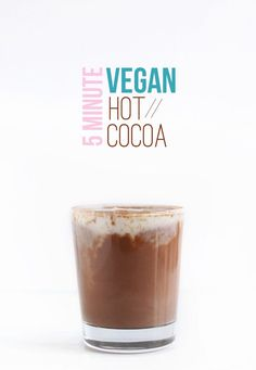 It only takes five minutes to make a steamy mug of this rich dairy-free hot chocolate. Baker Recipes, Vegan Dessert Recipes, Whole Food Recipes, Keto Recipes, Vegan Treats, Vegan Foods, Vegan Snacks, Healthy Snacks, Healthy Eating