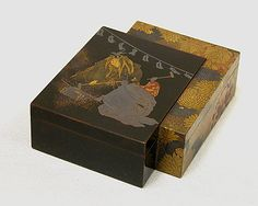 Box and Inside Tray  Koma Kansai  (Japanese, 1766–1835)  Period: Edo period (1615–1868) Date: 18th–19th century Culture: Japan Medium: Lacquer on wood, sprinkled gold, powdered gold and silver, and red lacquer Dimensions: H. 1 3/8 in. (3.5 cm); W. 3 1/2 in. (8.9 cm); L. 4 3/8 in. (11.1 cm) Classification: Lacquer