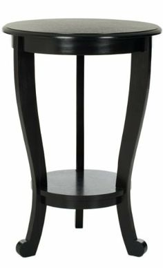 Safavieh American Home Collection Lexington Pedestal End Table, Distressed Black by Safavieh. $152.97. This pedestal table is the perfect addition to any home. The distressed black finish of this side table is sure to update any decor. Assembly required, this corner table measures 181-inch wide by 181-inch deep by 204-inch tall. Perfect for a living room, den, library, bedroom, or study. Crafted of solid pine wood. Update your home decor with the Safavieh American Home Collec...