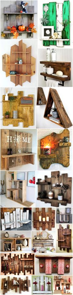 repurposed wooden pallet shelving ideas I love some of these beautiful ideals! Pallet Crafts, Diy Pallet Projects, Wood Projects, Woodworking Projects, Pallet Furniture Designs, Wood Pallet Furniture, Furniture Ideas, Pallet Shelving, Shelving Ideas