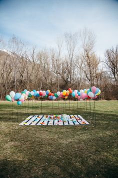 balloons and books baby shower | the house that lars built.