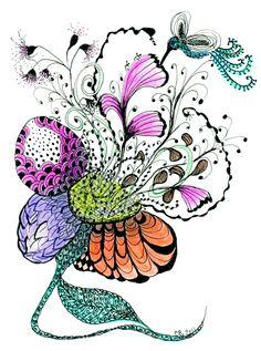 Zen Flower via: Christine B Morris