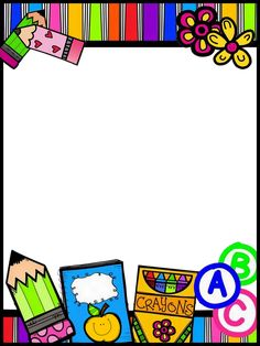 Frame Border Design, Boarder Designs, Borders For Paper, Borders And Frames, Classroom Borders, School Border, Happy Birthday Printable, Graphing Activities, Cute Borders