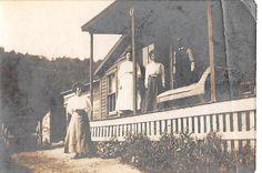 Black and White Vintage Snapshot Photograph Family Porch Yard Dress 1910'S | eBay