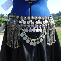 medieval tribal gypsy clothing | Tribal Bellydance Coin Belt with Matched Fertility by AmyOlson from ...
