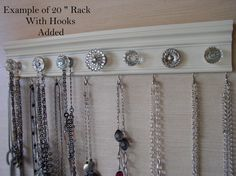 jewelry holder This wall necklace organizer has 5 by Gotahangup