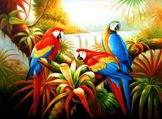 pintura africana en óleo - Buscar con Google