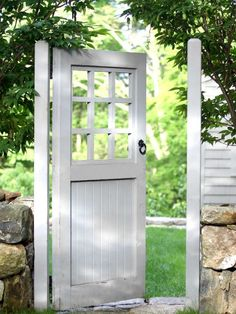 Lovely garden door...great alternative to a gate! ~ I desperately need a new gate. How cool is this!!