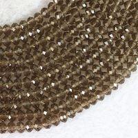 """Gris cristal verre 3 x 4 mm 4 x 6 mm 5 x 8 mm 8 x 10 mm rondelle facettes top qualité perles en vrac 15 """" B681"""