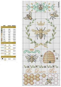✘✘✘ Крестовая дама /вышивка, схемы, рукоделие/   ВКонтакте Butterfly Cross Stitch, Cross Stitch Love, Cross Stitch Samplers, Cross Stitch Animals, Cross Stitch Designs, Cross Stitching, Cross Stitch Embroidery, Embroidery Patterns, Bee Embroidery