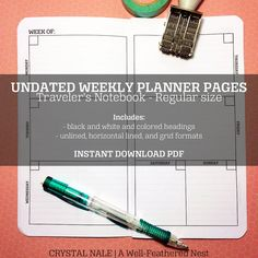 DIY Traveler's Notebook - Weekly Planner by A Well-Feathered Nest $6