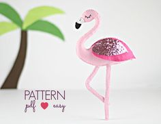 Felt Bird Sewing Patterns  Flamingo Pattern  Swan Pattern