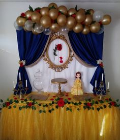 Beauty and the Beast party Schöne und das Biest Party Die Schöne und das Biest Party Beauty And Beast Birthday, Beauty And The Beast Theme, Beauty And Beast Wedding, Beauty And The Best, Disney Beauty And The Beast, Beauty Beast, Quinceanera Decorations, Quinceanera Party, Jasmin Party