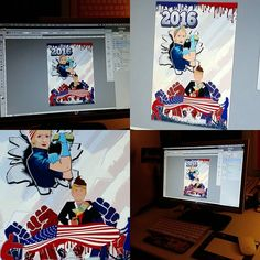 Working on a #new #digital #art #poster #design @creativeallies for showdown for the whitehouse #hillary2016 vs #don #trump #politics ##graphics #draw #chicago #artist #byou #free your #wild #mind #create #wallart #instamood #instagood #graffiti #streetart #style #america #fight #revolution #power