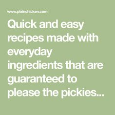 Quick and easy recipes made with everyday ingredients that are guaranteed to please the pickiest eaters. Baked Green Beans, Can Green Beans, Supper Recipes, Great Recipes, Easy Recipes, Easy Family Meals, Quick Easy Meals, Family Recipes, Cheese Grits Casserole