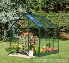 Halls Popular Green 6x6 Greenhouse - 3mm Toughened Glazing