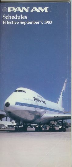 Pan Am timetable - September 1983.
