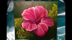 ACRYLIC PAINTING | Hibiscus Flower