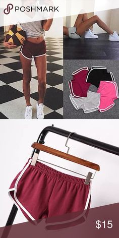 Athletic shorts American apparel style athletic shorts in MAROON! Size small but stretches. Does wonders for your booty! Super flattering and perfect for any occasion. Fashion nova aa Lulu lululemon adidas Nike Shorts