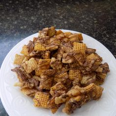 This recipe can be made with Honey Nut Chex too - fun to vary with different Chex mixes to find your own personal favorite.