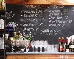 WINE BAR.....minus wine prices. Would be fun for a wedding shower. Maybe add a beer/cigar bar for the groom?