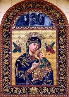 """allaboutmary: """"A ceramic street shrine for Our Lady of Perpetual Help in Seville, Spain. Mama Mary, Mary I, Mary And Jesus, Jesus Mother, Blessed Mother Mary, Religious Pictures, Religious Icons, Early Christian, Christian Art"""