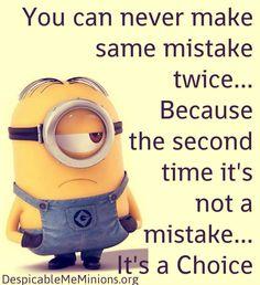 Mistakes & choices