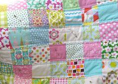 quilt tute by flowerpress, via Flickr  ideas for baby blanket