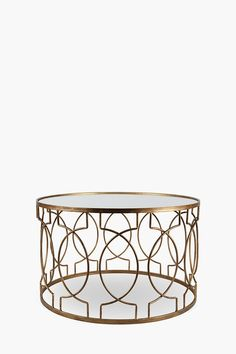 This geometric coffee table is perfect for a contemporary living and an urban interior setting. Large Furniture, Metal Furniture, New Furniture, Round Coffee Table, Side Tables, Contemporary, Crib, Interior, Home Decor