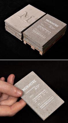 concrete business cards.
