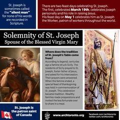 Infographic for the Solemnity of St Joseph