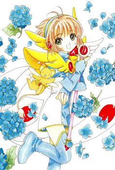 Sakura Kinomoto (木之本さくら) & Keroberos (ケルベロス), Kero-chan, Kero, Cerberus   Cardcaptor Sakura (カードキャプターさくら), CCS, Cardcaptors, Card Captor Sakura   CLAMP