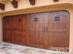 Spanish Garage Doors | Ageless Colonial Architectural Door Designs from Spain - mediterranean - garage and shed - orange county - Dynamic Garage Door