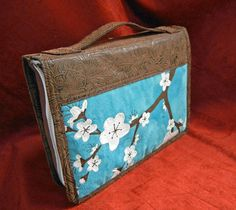 Faux Suede and Leather Hand Painted Bible Cover with by Derilyn, $59.99